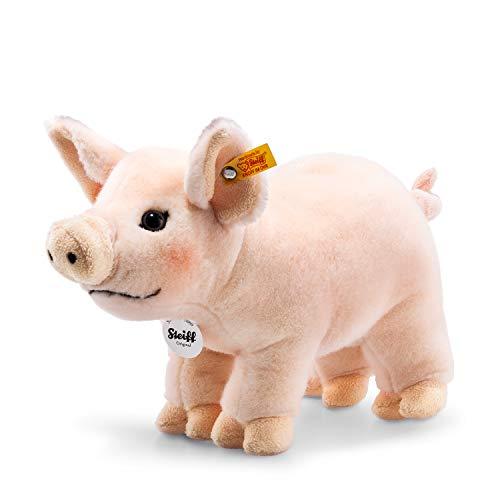 Steiff Piggy Schwein - 30 cm - Kuscheltier für Kinder - Plüschschwein - waschbar - rosa (071904)