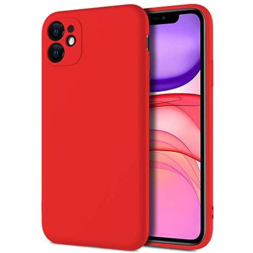 Hikissny Funda de Silicona Líquida Compatible con Xiaomi Mi Mix 3, Funda de Goma de Gel de Silicona Suave con Forro de Microfibra Cover para Xiaomi Mi Mix 3, Rojo