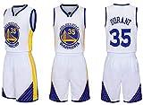 Camisetas de Baloncesto NO.35 Kevin Durant Brooklyn Nets Fans Niños Niñas, sin Mangas Conjunto de Manga Corta de Baloncesto Adecuado Camiseta Retro Summer Tops-White-2XL