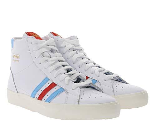 adidas Originals Basket Profi, Footwear White-Red-Gold Metallic, 8