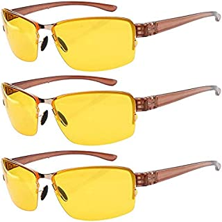 3 Pack Driving Sunglasses Day and Night Vision Glasses Men Women
