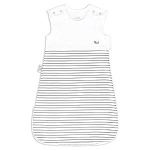 Saco de dormir para bebé, 2,5 tog, 6-18 meses, color blanco y gris, unisex para niñas y niños, doble cremallera y…