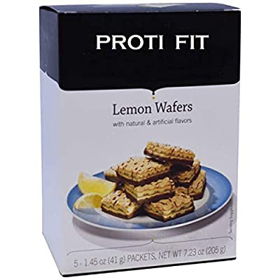 Bariatrix Lemon Wafer Square for Weight Loss - 15 Grams of Protein - 5 Box Serving - by Proti Fit