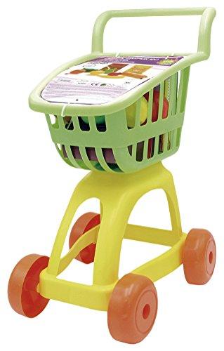 Tachan- Carrito supermercado con Alimentos, Color Verde/Amarillo (CPA Toy Group 1)