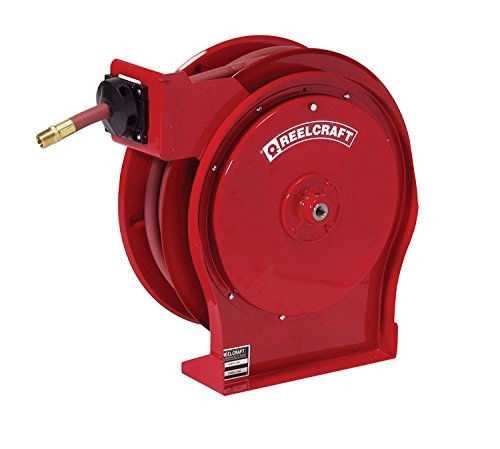 Reelcraft A5850 OLP 1/2-Inch by 50-Feet Spring Driven Hose Reel for Air/Water