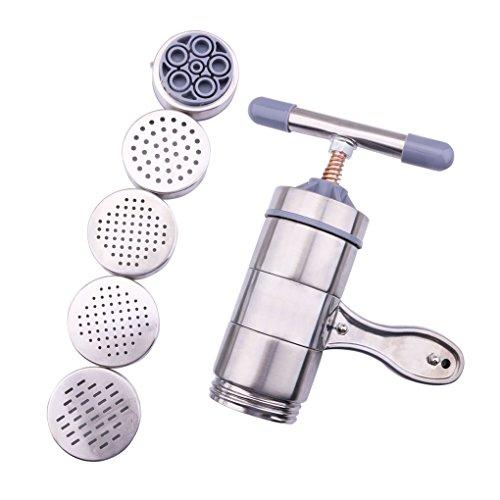 Beito Haushalt Edelstahl Pressen Nudelmaschine manuelle Nudel-Herstellung Silver Machine