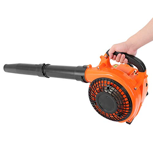 26cc 2-Cycle Engine Handheld Gas Powered Leaf Blower - Gasoline Blower with Nozzle Extension for Lawn Care, 375 CFM 195 mph
