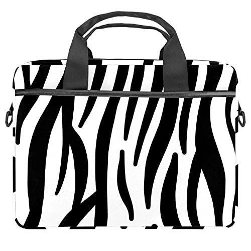 """Sac à main Sacoche pour ordinateur Portable 13-14.5"""" Sacoche pour Ordinateur Portable Porte-documents avec Poches pour Collège/Affaires/Femmes/Hommes Laptop Bag Motif zèbre"""