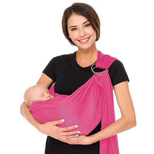 Kangaroo Baby® respirante Porte-bébé avec polyester et rapide Tissus sec intérieur Matériel Voyage en plein air Coton Confort Sécurité Newborn Infant Enfant Echarpe porte (pink)