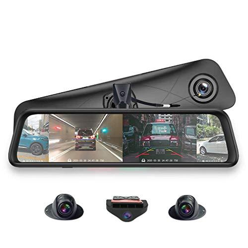 SZKJ 360 ° Panoramico 12 'Schermo Intero 4G Touch IPS Speciale Auto Dash Cam Android 5.1 Specchio Retrovisore con GPS Bluetooth WiFi FHD 1080 P 4CH Telecamere Lens