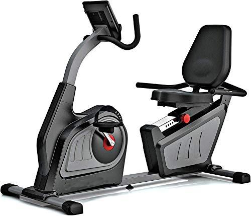 Bicicleta estática horizontal, con una velocidad de pulso opcional monitor muestra, distancia, tiempo,Grey