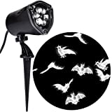 Gemmy - Bats Whirl-a-Motion with Strobe Projection Lightshow - White