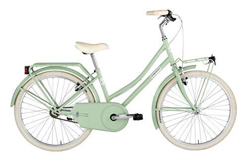 """Alpina Bike Olandesina, Bicicletta 1v Bambina, Verde Menta, 24"""""""