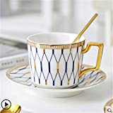 Dudu Tazas La misma taza de café, Juego de desayuno nórdica Copa, creativo Inglés de la tarde taza de té, Pareja rayado de la Copa Set 200 ml / del regalo de la acción de gracias, regalo del día de Sa