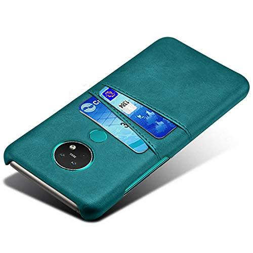 HualuBro Handyhülle für Nokia 7.2 Hülle, Nokia 6.2 Hülle Leder, Ultra Slim Stoßfest Schutzhülle Bumper Hülle Cover Lederhülle Backcover für Nokia 7.2 / Nokia 6.2 Tasche (Grün)