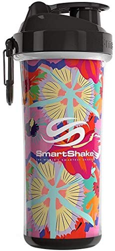 Smart Shake Double Wall Shaker Cup, Tropical Red 25 Oz
