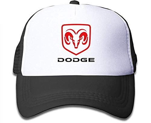 Qqwqef23f Ball Cap, Breathable, Adjustable Kids Dodge Ram Hemi Logo Mesh Cute Boys&Girls