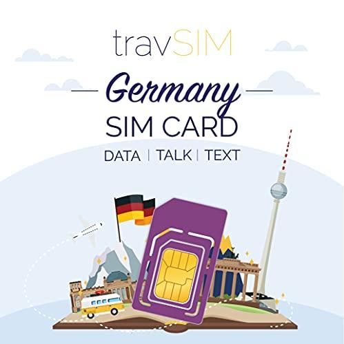TravSIM, scheda SIM tedesca (scheda SIM Three UK) per 30 giorni, 20 GB di dati mobili – Scheda SIM Tedesca UK Three Tedesca – Include conversazioni e testo in 30 paesi europei