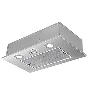 CIARRA CBCS5913A Hotte Intégrée Groupe filtrant - 300 m³/h - 52cm - Evacuation - 3 Vitesses - LED Eclairage - Inox
