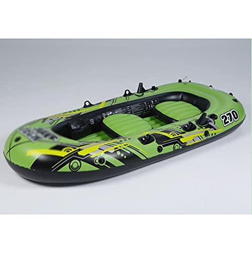PZJ-Barco Inflable de Aire, Material de PVC Duradero Pesca a la Deriva Barco de Aire Pesca Engrosada Barco a la Deriva Plegable Resistente al desgarro