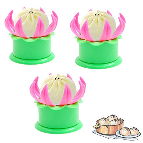 Stallone Bun Dumpling Tools, DIY Ravioli Pastry Herramientas antiadherentes para Hornear, fáciles de Usar y Limpiar (3 pcs)