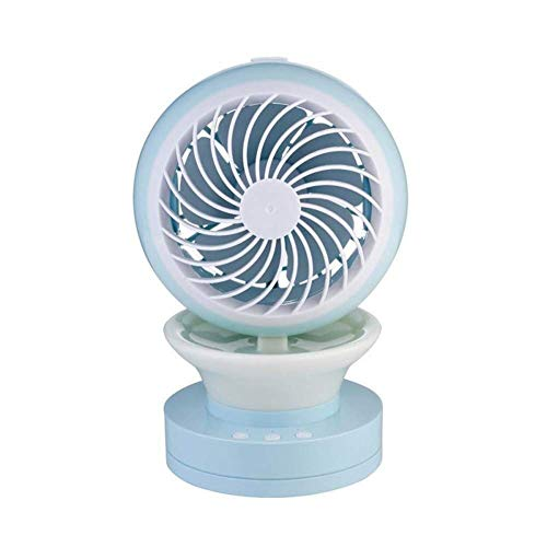 YO-TOKU USB Fans, Draagbare Verneveling Handheld Mini ventilator met USB oplaadbare batterijen gevoede Mini Desk Fan for Office Outdoor Household Reizen, Blue Bureau Fans USB Gadgets