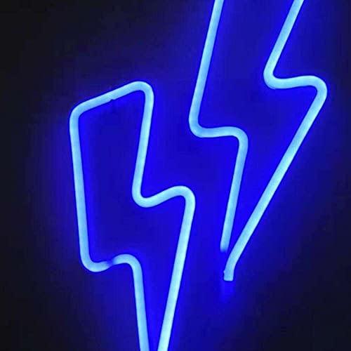 nanxing Luz decorativa de neón con forma de señal de neón LED, decoración interior para Halloween