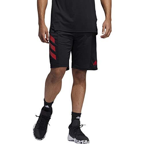 adidas SPT 3s Short Split - Pantalón Corto para Hombre, Hombre, FWM99, Black/Scarlet, 3XL