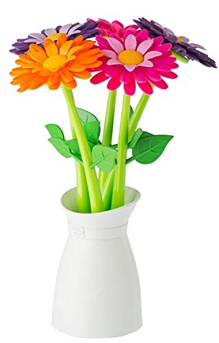 VIGAR Set Penna A Sfera 5 Pz. Flower Shop Multicolore