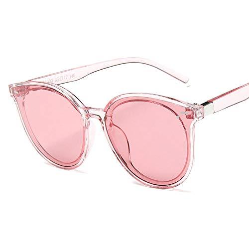 Sunglasses Retro Redondo De Gran Tamaño Sexy Mujeres Gafas De Sol Hombre Gafas De Sol Gafas De Plástico Uv400 Gafas De Sol Rosa