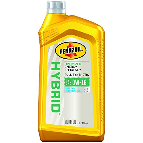 Pennzoil 550053456 Hybrid Full Synthetic 0W-16 Motor Oil (1-Quart, Case of 6)