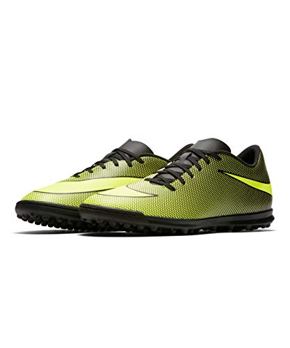 Nike Bravata II Tf, Scarpe da Calcio Uomo, Nero (Black/Volt 070), 40.5 EU