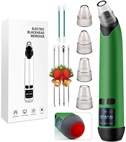Disen Blackhead Remover Vacuum,Pore Vacuum Cleaner Blackhead Removal Extractor Acne with Hot Compress, Facial Deep Cleaning Whitehead Pimple Blemish Acne Comedone Extractor Kit with 5 Suction Heads