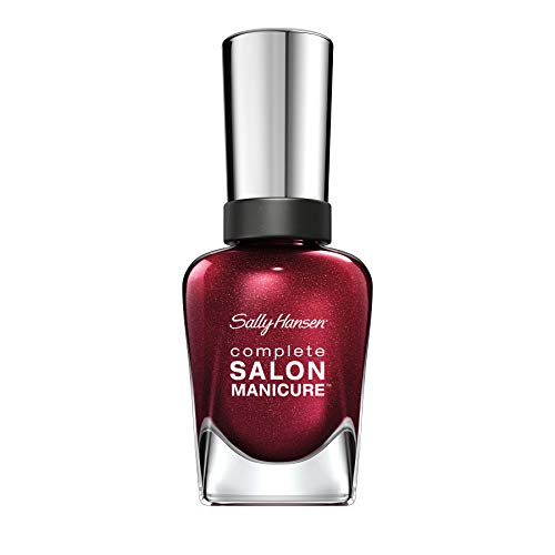 Sally Hansen Complete Salon Manicure Nagellack, Farbe 620, Wine Not, rot metallic, 1er Pack (1 x 15 ml)