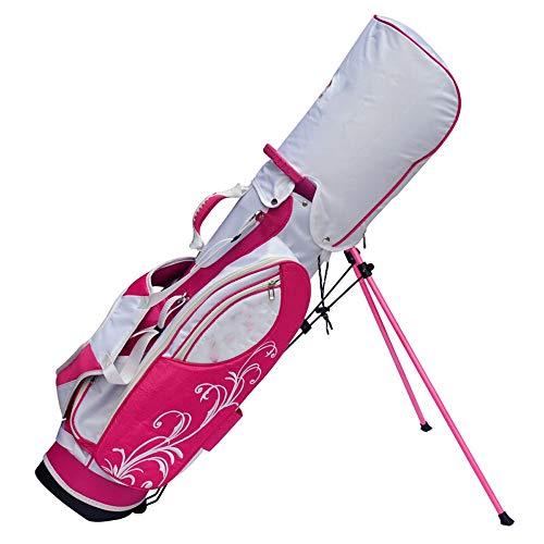 XINGZHE Golftasche, Junior-Golftasche Stativtasche Tasche leicht und robust Golfbags Golf Reisetasche (Color : Rose red)
