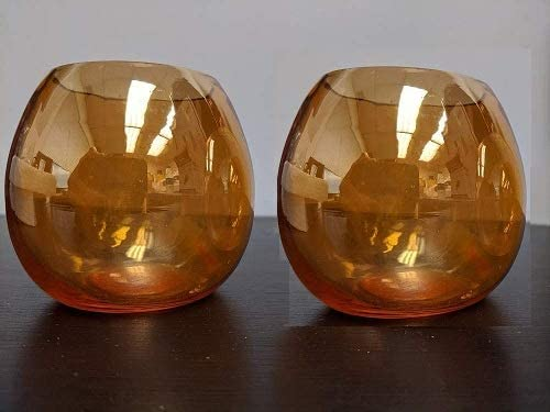 1 year warranty Set of 2 Enchanting Antique lowest price Style Sconce Amber Clear Wall Metal