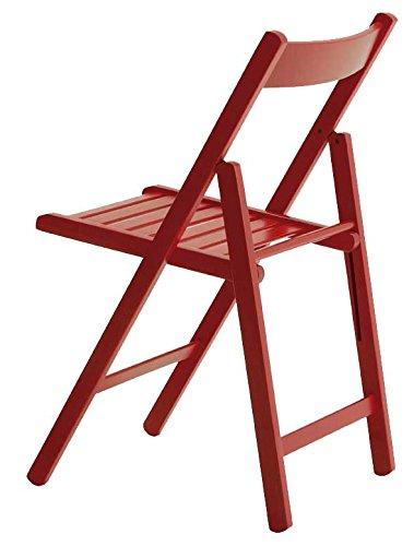 Aranaz Silla Plegable, Haya, roja, 43 x 47 x 79 cm
