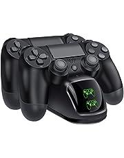 BEBONCOOL Cargador Mando PS4 de controlador PS4, Soporte Mando PS4 USB Carga Rápida para DualShock 4, Estación de Carga PS4 en Color Negro para Sony Playstation4 / PS4 / PS4 Slim / PS4 Pro Controller