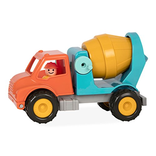 Battat - Cement Mixer Truck with Working Movable Parts and Driver - Toy Trucks for Toddlers 18m+