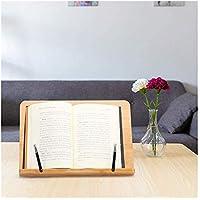 MCRDAE Tabla de bambú Ajustable Soporte de música del Libro de Lectura del Soporte del Ordenador portátil Soporte portátil Plegable sostenedor de la Lectura for los Libros Recetas Revistas 528