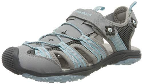 KangaROOS KT-Sonata Unisex-Kinder Sneaker, Grau (Vapor Grey/Mint 2138), 33 EU