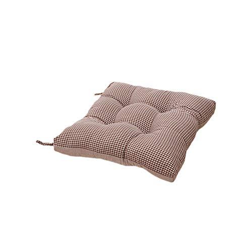 Komfortkissen, Atmungsaktive Baumwollmatte, Stilvolles Gitter, Einfach Und Vielseitig, Mit Einem Riemen Ausgestattet, Um rutschfest Zu Sein, Ca. 40 X 40 cm