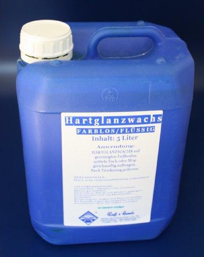 Wasserrose® 5 L (1L=8,39€) FLÜSSIGES HARTGLANZWACHS/BOHNERWACHS Weiss-FARBLOS Made IN Germany