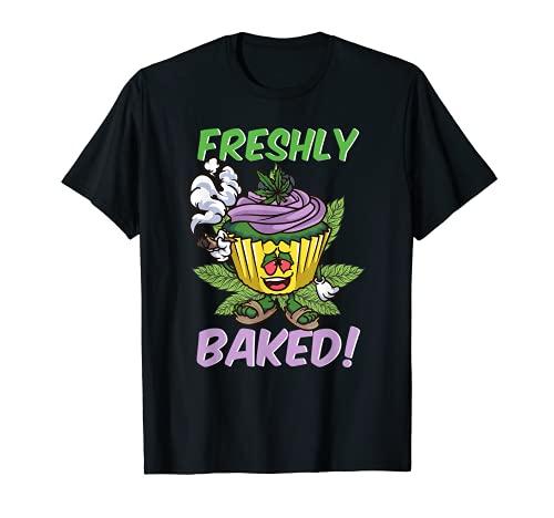 Freshly Baked | Funny Stoner Weed 420 Cupcake Cannabis THC T-Shirt
