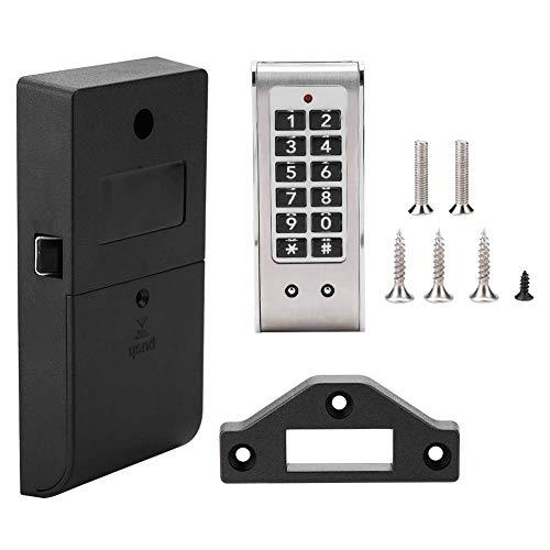 Cerradura de contraseña electrónica, cerradura sin llave de gabinete de código de dígitos Kit de cerradura de gabinete electrónico para cajas de herramientas de gabinete de puerta de spa