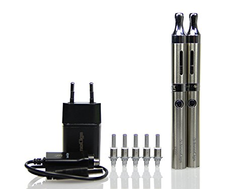 EVOD 2 BDCC Kanger doppel Starterset KangerTech Dual Coil 1,5 Ohm, e-Zigarette (silber)