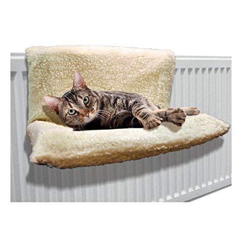 Guilty Gadgets  - Cama de Forro Polar para Gato, Perro, Cachorro, Mascota, radiador, Cesta, Hamaca, Animal Suave, Lavable