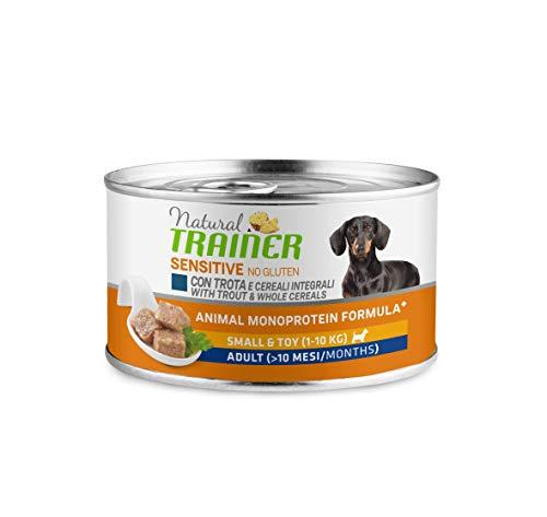 Trainer Natural Sensitive No Glutine - Paté per Cani Mini-Toy Adulti con Trota 24 x 150g - 3,6kg