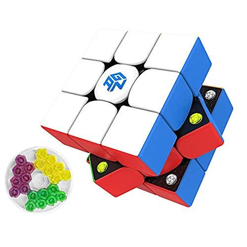 Cuberspeed Gan356 M - Cubo de velocidad magnético sin adhesivo (3 x 3 velocidades, GAN 356 M, 3 x 3 x 3 3)