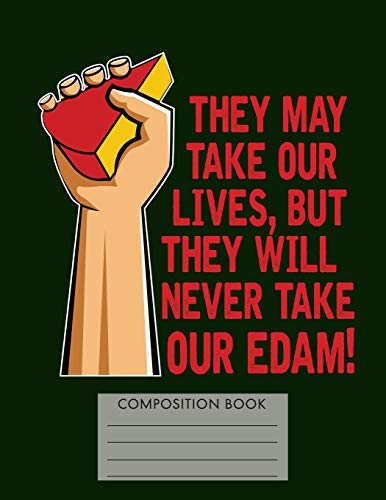 Funny Edam Cheese Pun Composition Notebook